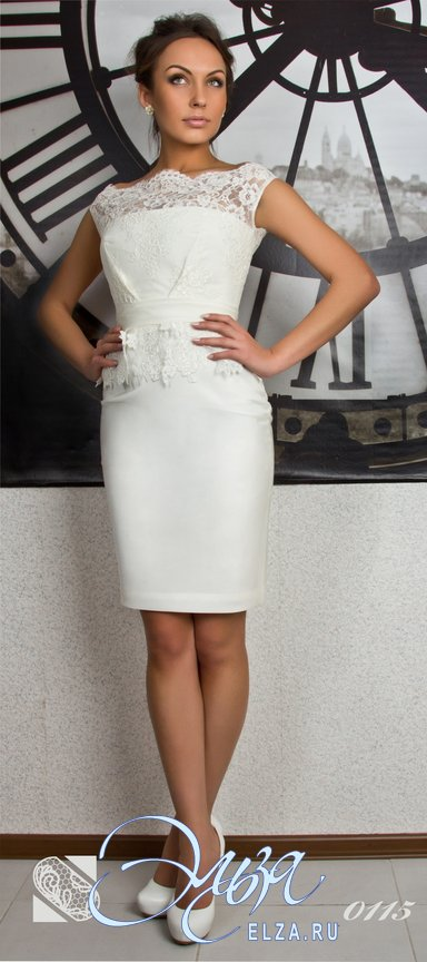 Фото белого коктейльного платья